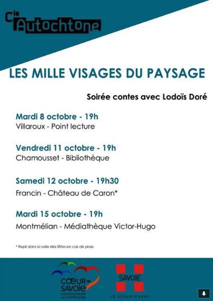 les mille visages du paysage à Villaroux