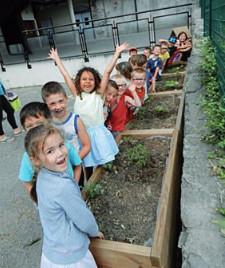 les enfants de l'école de Villaroux